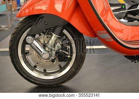 Pasig, Ph - Mar. 7: Vespa Primavera S Special Edition Motorcycle Wheel At 2nd Ride Ph On March 7, 20