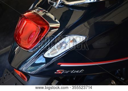 Pasig, Ph - Mar. 7: Vespa Sprint S Motorcycle At 2nd Ride Ph On March 7, 2020 In Pasig, Philippines.