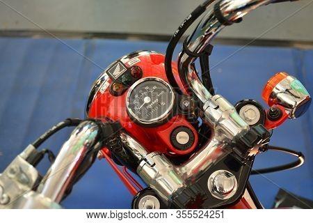 Pasig, Ph - Mar. 7: Honda Monkey Motorcycle Speedometer At 2nd Ride Ph On March 7, 2020 In Pasig, Ph