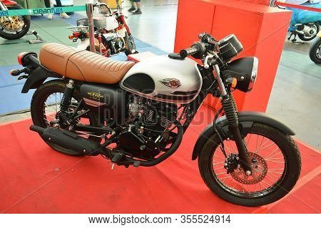 Pasig, Ph - Mar. 7: Kawasaki 175 Motorcycle At 2nd Ride Ph On March 7, 2020 In Pasig, Philippines. R
