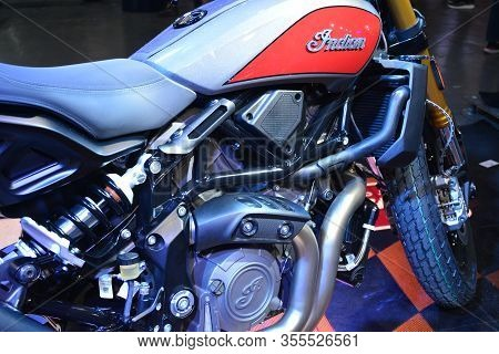 Pasig, Ph - Mar. 7: Indian Motorcycle Ftr 1200 At 2nd Ride Ph On March 7, 2020 In Pasig, Philippines