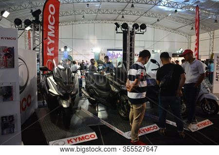 Pasig, Ph - Mar. 7: Kymco Motorcycle Display Booth At 2nd Ride Ph On March 7, 2020 In Pasig, Philipp