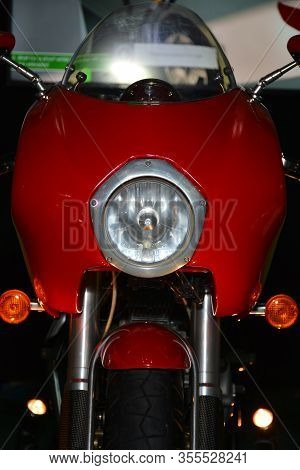Pasig, Ph - Mar. 7: Red Ducati Motorcycle At 2nd Ride Ph On March 7, 2020 In Pasig, Philippines. Rid