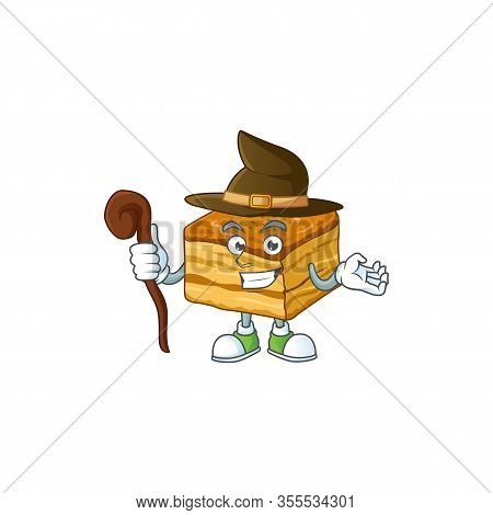 Sweet And Tricky Witch Baklava Cartoon Character