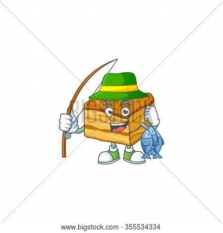 Cartoon Character Style Of Funny Fishing Baklava