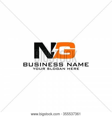 Ng Initial Logo Concept With Electric Template Vector