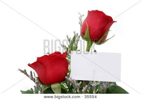 Roses With Gift Card
