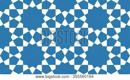 Geometrical Islamic Seamless Pattern For Decoration Greeting Card Or Interior. Vector Illustration.