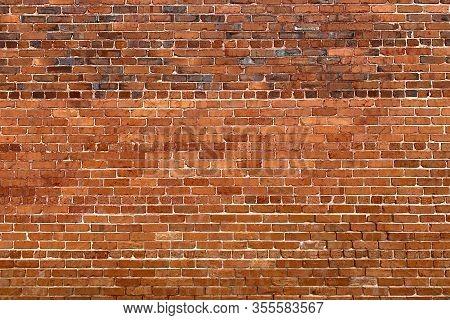Vintage Old Red Brick Manor Garden Wall