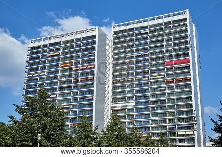 Typical Subsidized Housing Seen In The Former Eastern Part Of Berlin