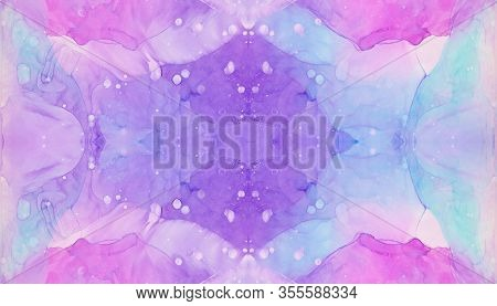Bright Liquid Watercolor Paint Splash Texture Effect Illustration For Card Design, Banners, Modern G