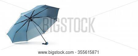 Blue umbrella isolated on white background