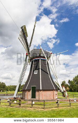 Historic Dutch Polder Mill