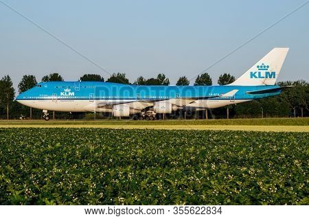 Amsterdam / Netherlands - July 3, 2017: Klm Royal Dutch Airlines Boeing 747-400 Ph-bfr Passenger Pla