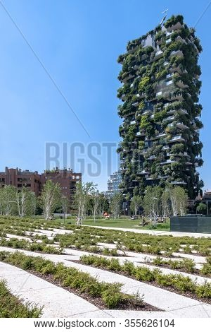 The Vertical Forest (bosco Verticale) In Milan Italy