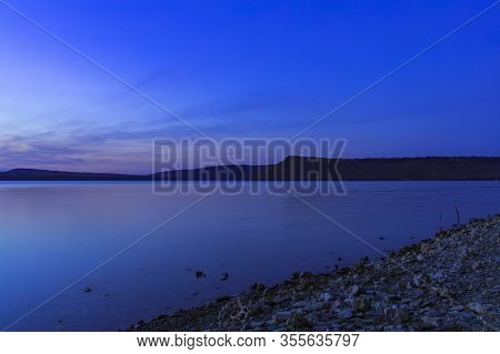 Long Exposure Peaceful Landscape Calm Place In Ukraine Country Side Scenic Nature Environment Dniest