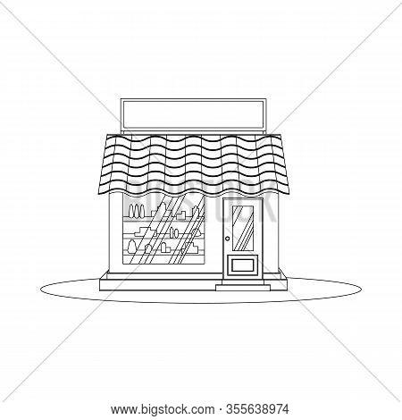 Building Facade. A Bakery, Cafe, Pastry Shop And A Small Dessert Shop. Market Or Supermarket. Vector