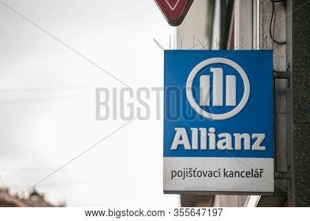 Prague, Czechia - November 1, 2019: Allianz Insurance On Their Office For Prague. Allianz Is A Germa