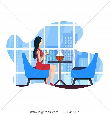 Vector Illustration Coworking Cafe Leisure Flat. Educational Programs, Meetings With Leaders Creativ