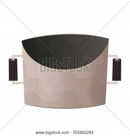 Kitchen Steel Pot Isolated On White Background Vector