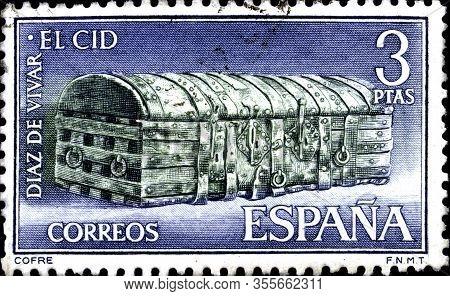 02.11.2020 Divnoe Stavropol Territory Russia Postage Stamp Spain 1962 Rodrigo Diaz De Vivar - El Cid