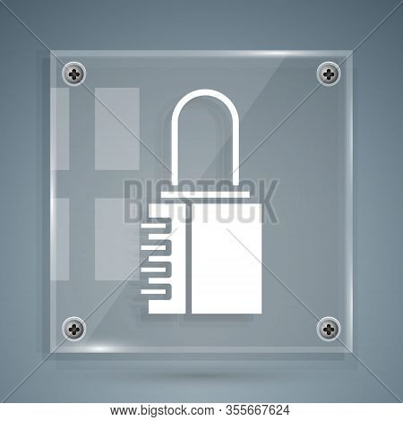 White Safe Combination Lock Icon Isolated On Grey Background. Combination Padlock. Security, Safety,