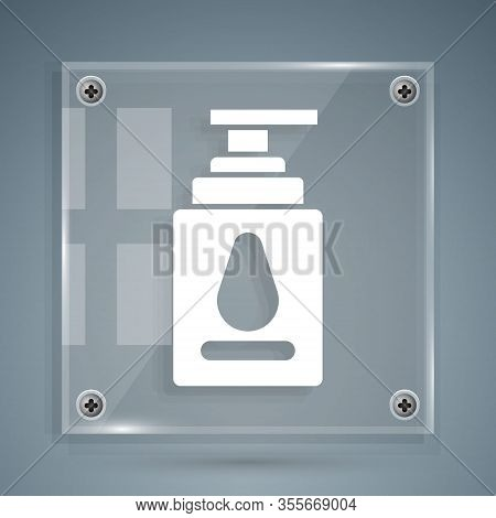 White Personal Lubricant Icon Isolated On Grey Background. Lubricating Gel. Cream For Erotic Sex Gam