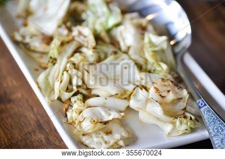Stir Fried Cabbage, Stir Fried Cauliflower Or Stir Fried Vegetable