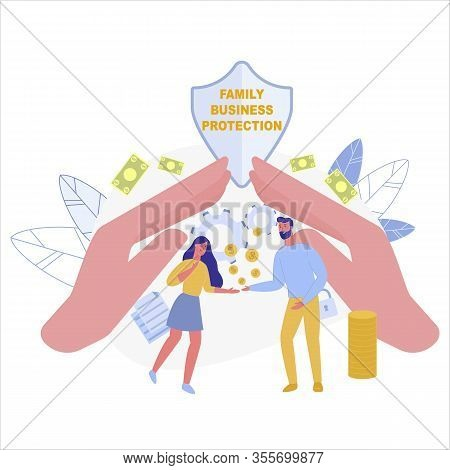 Favorable Taxation And Comfort Conditions As Incentive For Small Family Businesses. Couple, Starting
