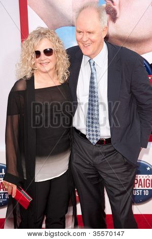 HOLLYWOOD, CA - AUG 2: Actor John Lithgow and wife Mary arrive at the premiere of Warner Bros. Pictures ' The Campaign' at Grauman's Chinese Theatre on August 2, 2012 in Hollywood, California.