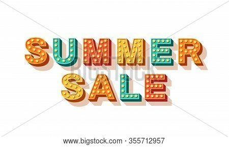 Summer Sale Vector Typography. Summer Wholesale Banner. Seasonal Shopping Event Poster. Decorative C