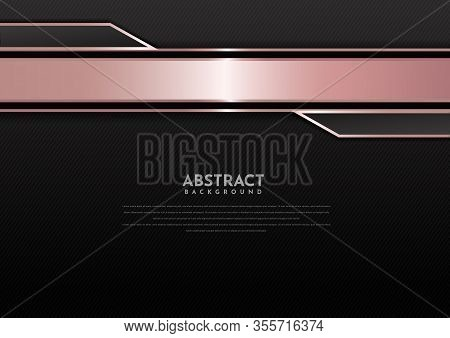 Abstract Template Pink Gold Geometric Contrast Black Background.  You Can Use For Template Brochure