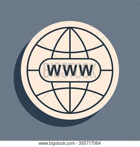 Black Go To Web Icon Isolated On Grey Background. Www Icon. Website Pictogram. World Wide Web Symbol