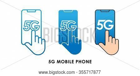 5G, 5G Phone icon, 5G vector, 5G icon vector, 5G logo, 5G symbol, 5G sign, 5G icon design. 5G Mobile Phone icon vector illustration. 5G connection vector template design. 5G network technology vector illustration for web, logo, app, UI.