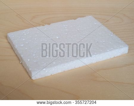 White Expanded Polystyrene Plastic Texture Background