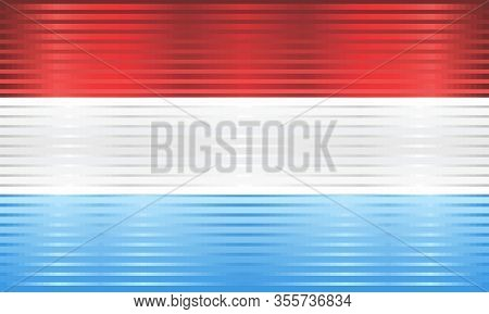 Shiny Grunge Flag Of The Luxembourg - Illustration,  Three Dimensional Flag Of Luxembourg