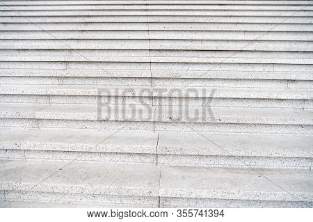 One Step Closer To Success. Abstract Stairs For Background. Stone Stairs Outdoors. Stairs Or Stairwa