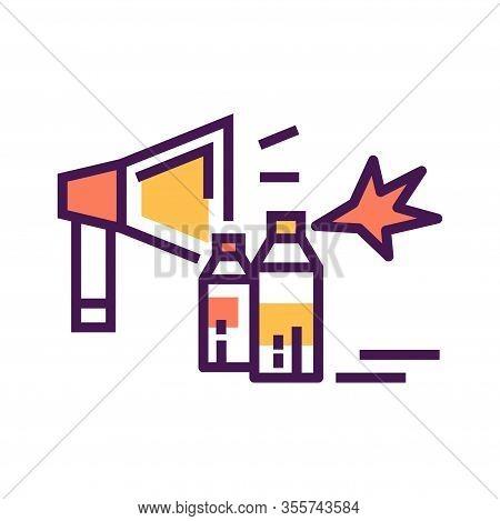 Revolution Line Color Icon. Civil Unrest, Vandalism. Social Protest. Pictogram For Web Page, Mobile