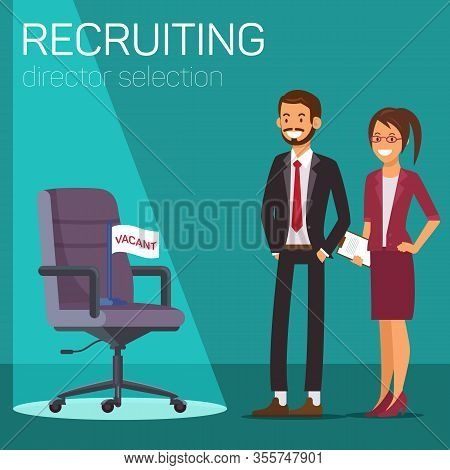 Director Vacancy. Recruiting Director Selection. Open Vacancy. Candidate Position. Business Suit Ill