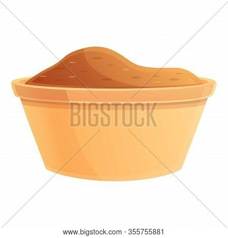 Brown Sugar Icon. Cartoon Of Brown Sugar Vector Icon For Web Design Isolated On White Background