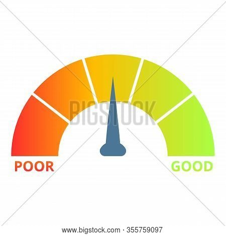 Customer Credit Score Icon. Cartoon Of Customer Credit Score Vector Icon For Web Design Isolated On