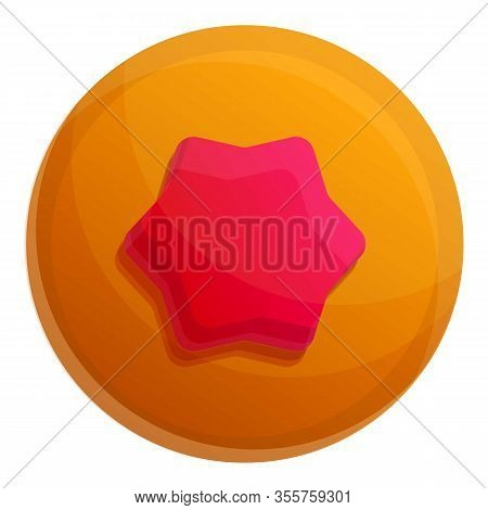 Jelly Star Biscuit Icon. Cartoon Of Jelly Star Biscuit Vector Icon For Web Design Isolated On White