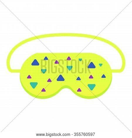 Green Lime Sleeping Mask Icon. Cartoon Of Green Lime Sleeping Mask Vector Icon For Web Design Isolat