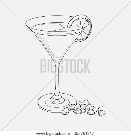 Martini Icon Line Element. Vector Illustration Of Martini Icon Line Isolated On Clean Background For