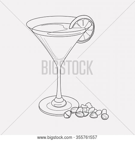 Martini Icon Line Element. Illustration Of Martini Icon Line Isolated On Clean Background For Your W