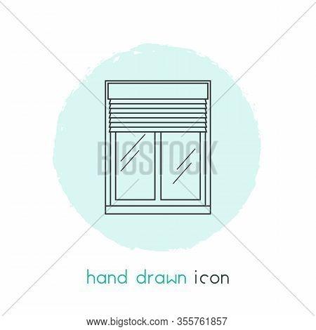 Window Siding Icon Line Element. Illustration Of Window Siding Icon Line Isolated On Clean Backgroun