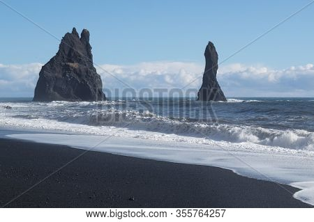 Image Of Beautiful  Reynisfjara Beach In Iceland