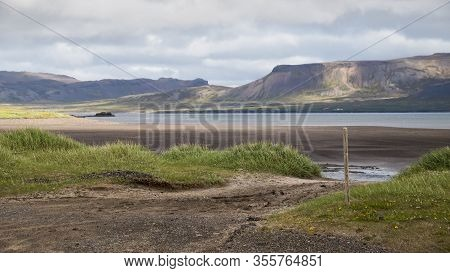 Image Of View On  Beautiful Nature In Iceland.