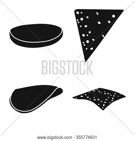 Vector Illustration Of Tasty And Cooking Logo. Set Of Tasty And Sandwich Vector Icon For Stock.