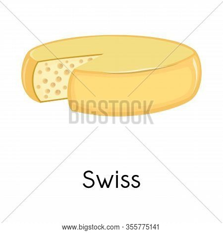 Vector Design Of Chees And Swiss Symbol. Graphic Of Chees And Block Stock Symbol For Web.